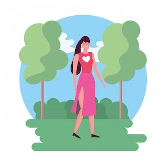 Karakter vrouw vector ontwerp
