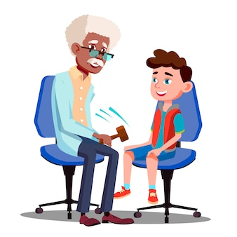 Karakterneuroloog die jongensreflex controleert