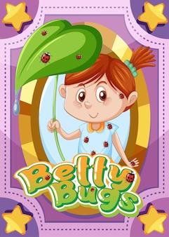 Karakterspelkaart met woord betty bugs