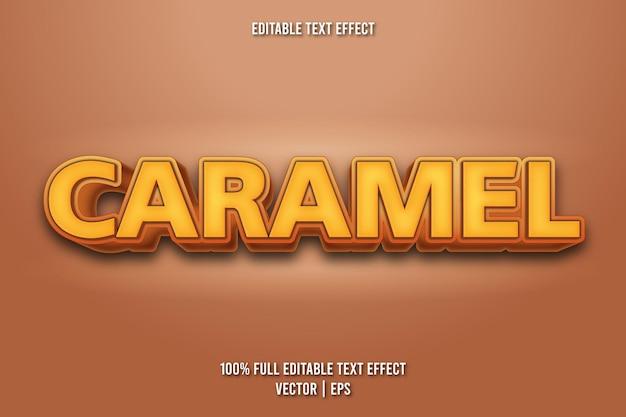 Karamel bewerkbare teksteffect cartoonstijl