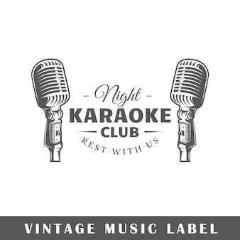 Karaoke club nacht labelontwerp