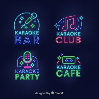 Karaoke club neonlicht collectie