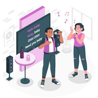 Karaoke concept illustratie