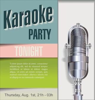 Karaoke feest achtergrond