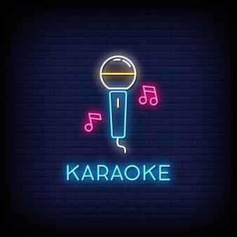 Karaoke neon uithangbord