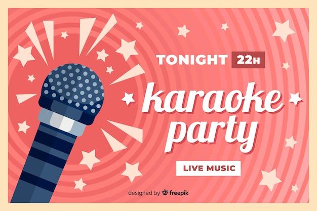 Karaoke-sjabloon vlakke stijl van de banner