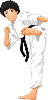 Karate jongen cartoon