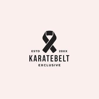 Karate riem logo concept
