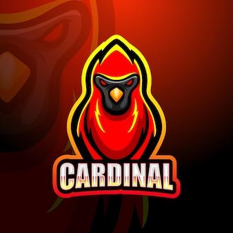 Kardinaal mascotte logo ontwerp