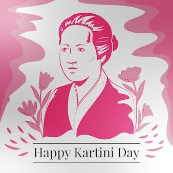 Kartini dag held vrouw in het onderwijs
