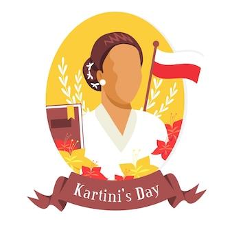 Kartini dag illustratie