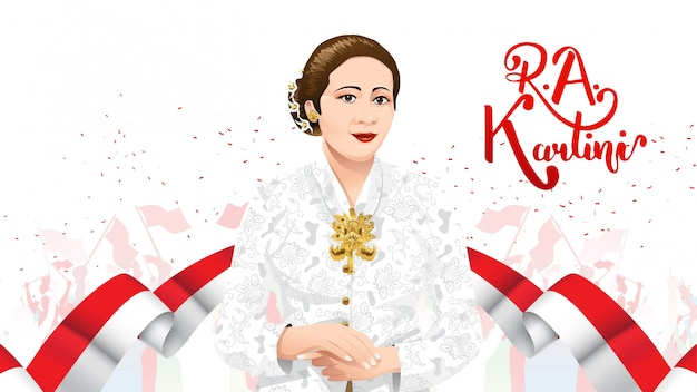 Kartini-dag, ra kartini de helden van vrouwen en het recht van de mens in indonesië