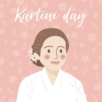 Kartini day concept illustratie, kartini day vieren