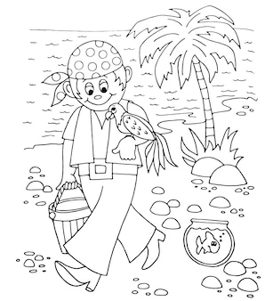 Karton schets illustratie