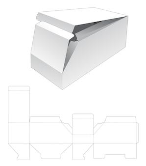 Kartonnen 2 flip afgeschuinde doos gestanst sjabloon