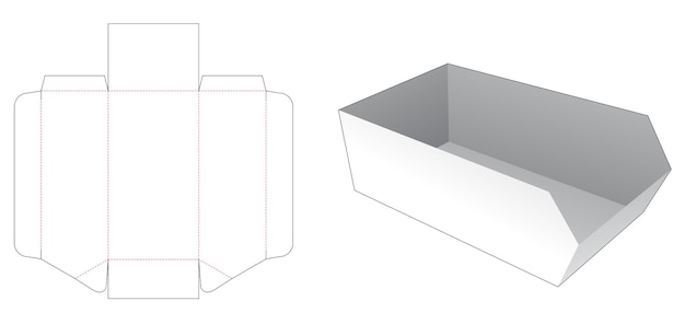 Kartonnen afgeschuinde dienblad gestanst sjabloon
