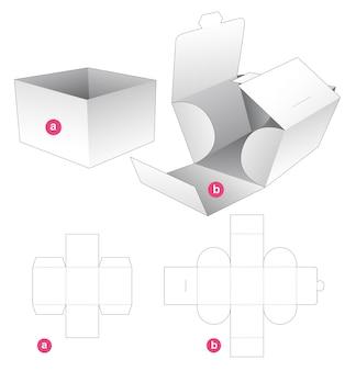 Kartonnen bakje met omwikkelde omslag gestanst sjabloon