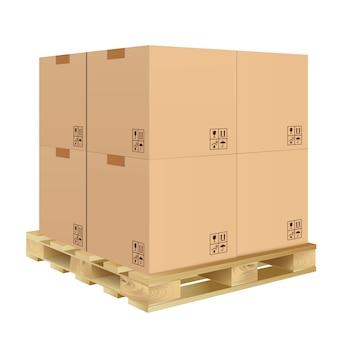 Kartonnen doos geïsoleerd Premium Vector