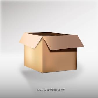 Kartonnen doos illustratie vector