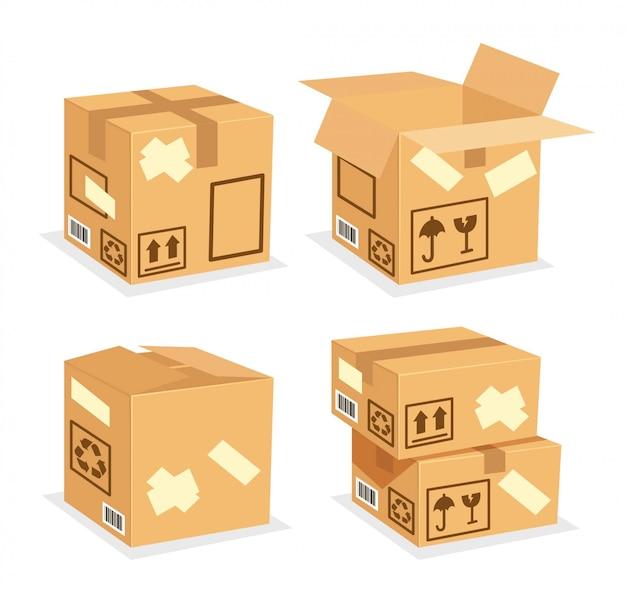 Kartonnen doos leeg