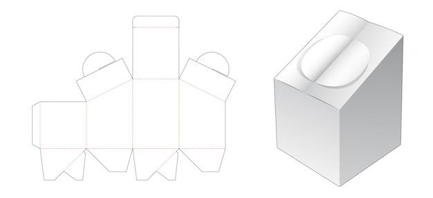 Kartonnen doos met dubbele flip gestanste sjabloon