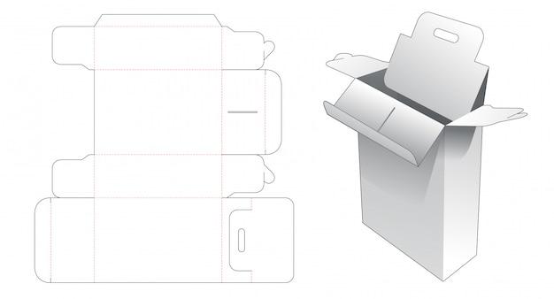 Kartonnen doos met gestanste mal met hanggat