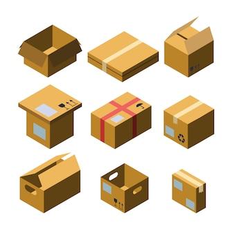 Kartonnen doos verschillende maten collectie set