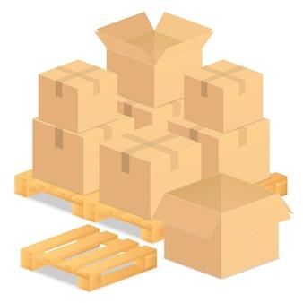 Kartonnen dozen illustratie