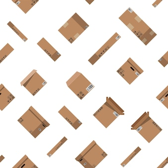 Kartonnen dozen naadloze patroon