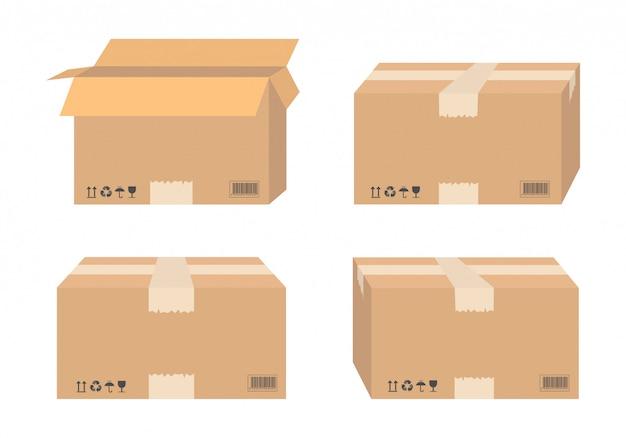 Kartonnen dozen voor transport