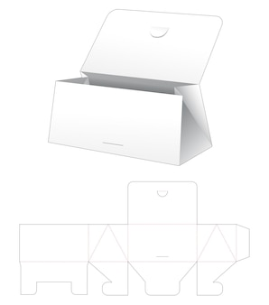 Kartonnen flip driehoekige portemonnee gestanst sjabloon