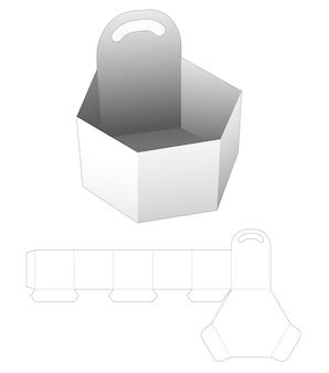 Kartonnen handvat zeshoekig dienblad gestanst sjabloon