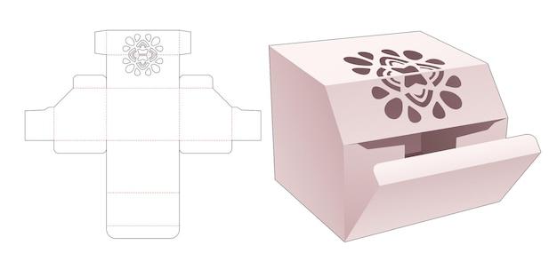 Kartonnen hoekverpakking met gestencilde mandala gestanste sjabloon