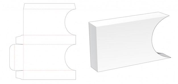 Kartonnen hoes verpakking gestanst sjabloon