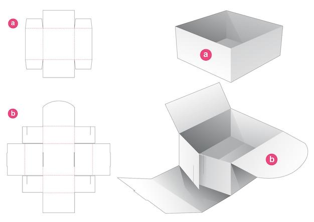 Kartonnen kom en omslag gestanst sjabloon