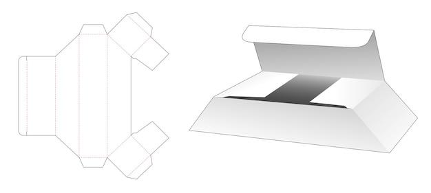 Kartonnen korte trapeziumvormige doos gestanst sjabloon