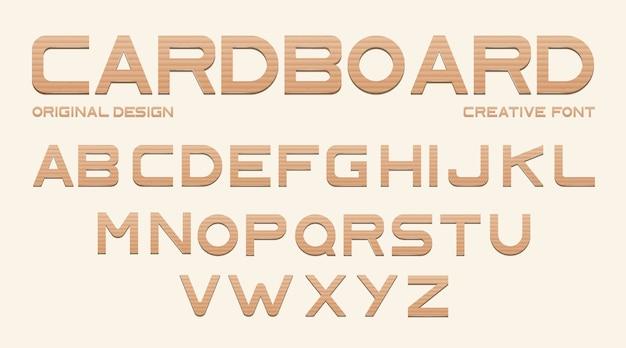Kartonnen lettertype