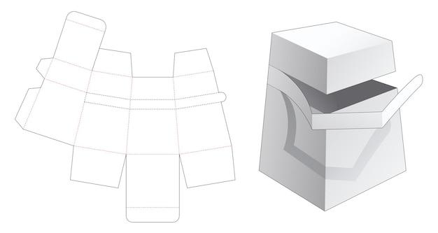 Kartonnen obeliskdoos met gestanste sjabloon met ritssluiting