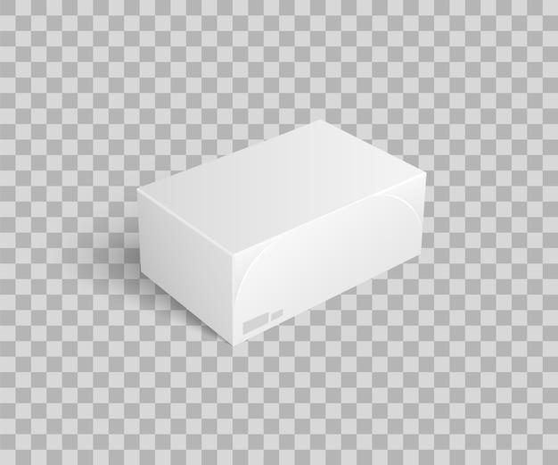 Kartonnen pakket voor het houden van dingen pictogram vector