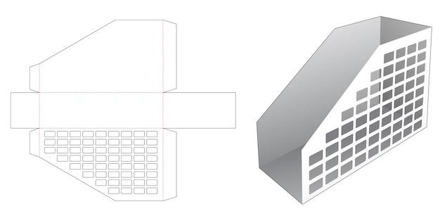 Kartonnen plankboek met gestencilde rechthoekige gestanste sjabloon