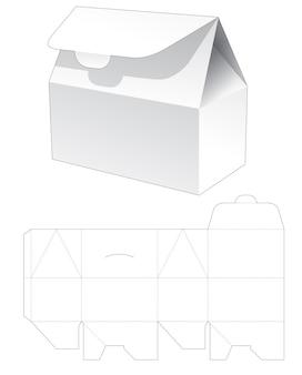 Kartonnen portemonnee gestanst sjabloon