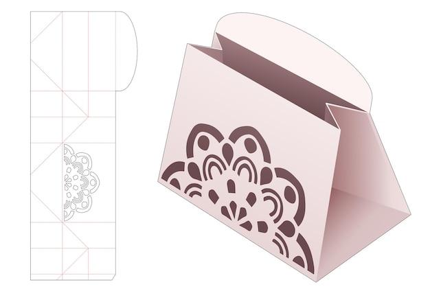 Kartonnen portemonnee met gestanste mandala-sjabloon