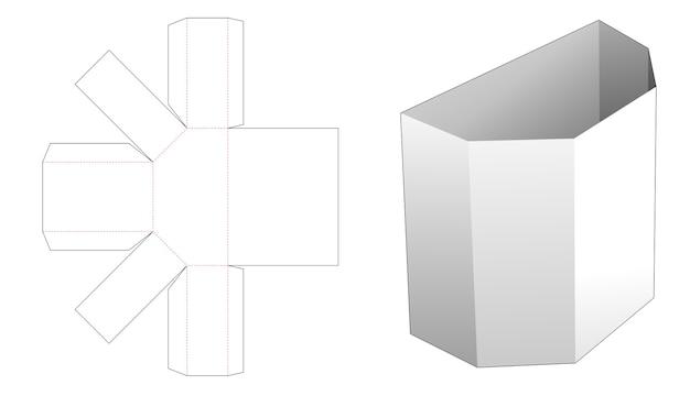 Kartonnen trapezium briefpapier doos gestanst sjabloon