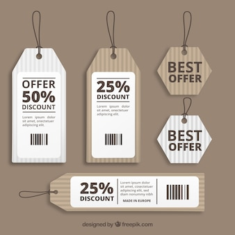 Kartonnen verkoop etiketten