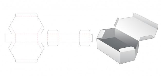 Kartonnen zeshoekige doos gestanst sjabloon