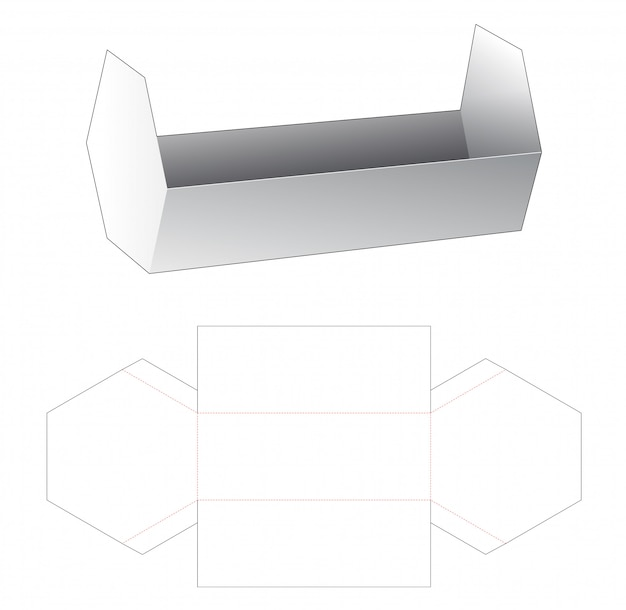 Kartonnen zeshoekige gestanste sjabloon