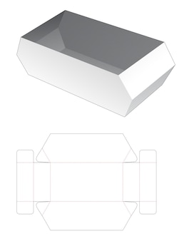 Kartonnen zeshoekige kom gestanst sjabloon