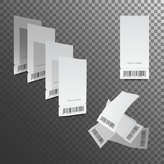 Kassabonnen illustratie. geïsoleerde papiercontrole en financiële controle.