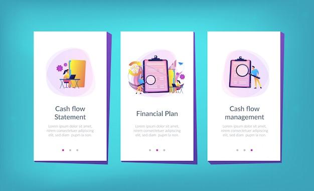 Kasstroomoverzicht app-interfacemalplaatje