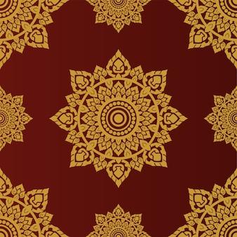 Kastanjebruin thais oud patroon